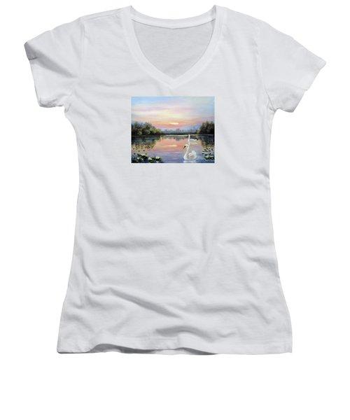 Beauty Women's V-Neck T-Shirt (Junior Cut) by Vesna Martinjak
