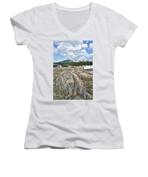 Big Horn Pass In Wyoming Women's V-Neck (Athletic Fit)
