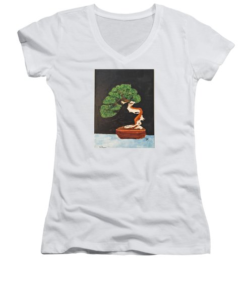 Bonsai-1 Women's V-Neck