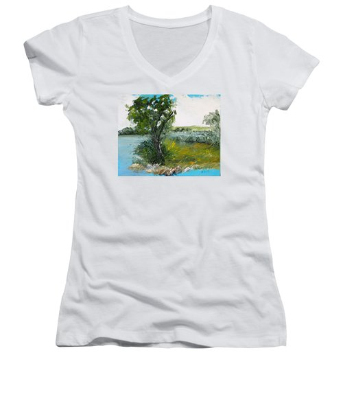 By The Snake River Women's V-Neck T-Shirt