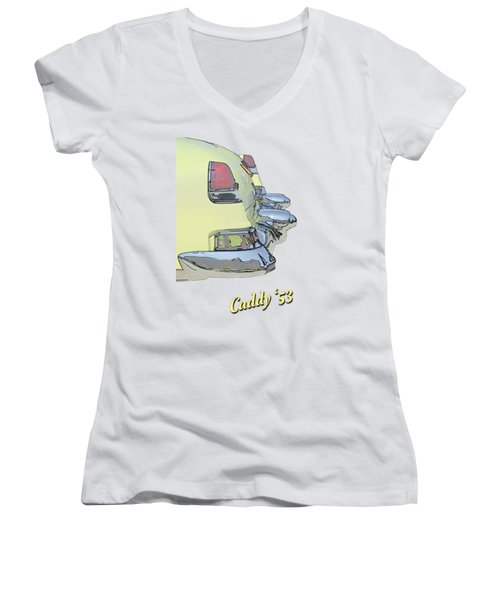 Caddy 53 Women's V-Neck T-Shirt (Junior Cut) by Larry Bishop