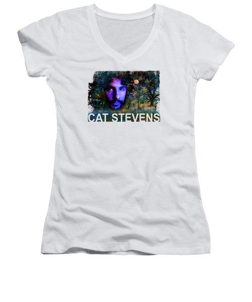 Cat Stevens Women's V-Neck (Athletic Fit)