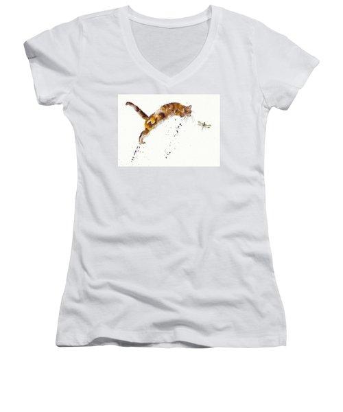 Chasing The Dragon Women's V-Neck T-Shirt