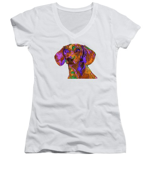 Chloe. Pet Series Women's V-Neck (Athletic Fit)