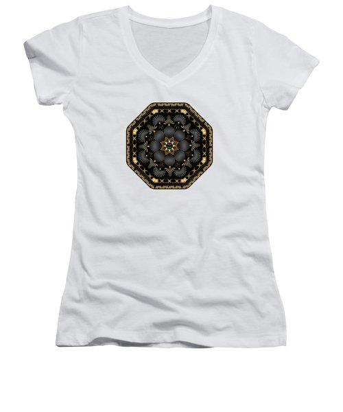 Circularium No. 2616 Women's V-Neck T-Shirt (Junior Cut) by Alan Bennington
