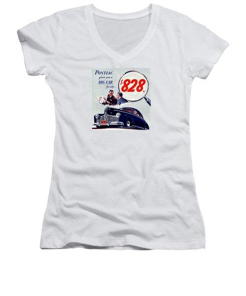 Classic Cars Women's V-Neck T-Shirt (Junior Cut) by Allen Beilschmidt