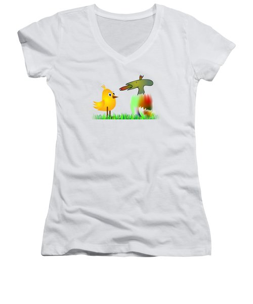 Close Encounters Of The Third Kind Women's V-Neck T-Shirt (Junior Cut) by Michal Boubin