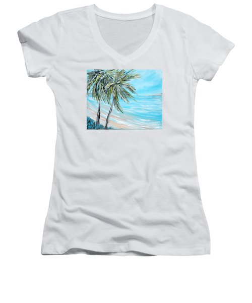 Collection. Art For Health And Life. Painting 3 Women's V-Neck (Athletic Fit)