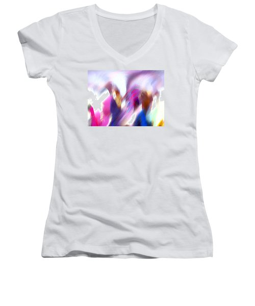 Color Dance Women's V-Neck T-Shirt (Junior Cut) by Anil Nene