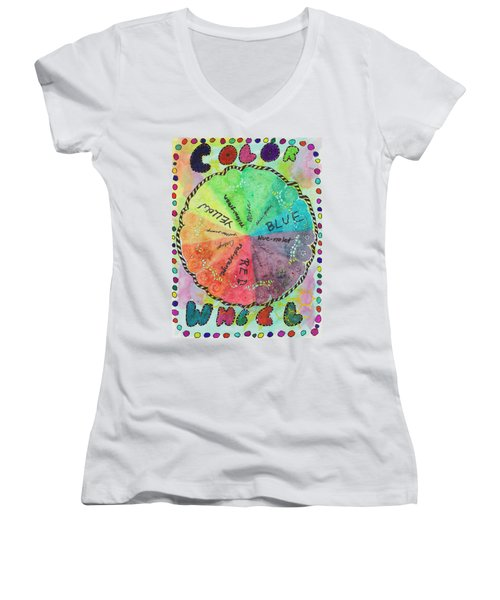 Color Wheel Women's V-Neck