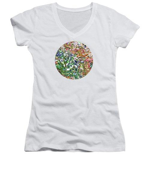 Colorful Shapes Pattern Women's V-Neck