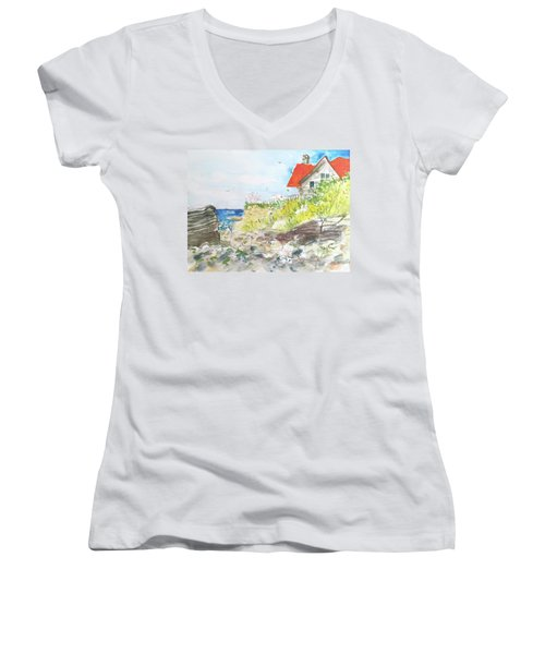Cornfield Point Old Saybrook Women's V-Neck (Athletic Fit)