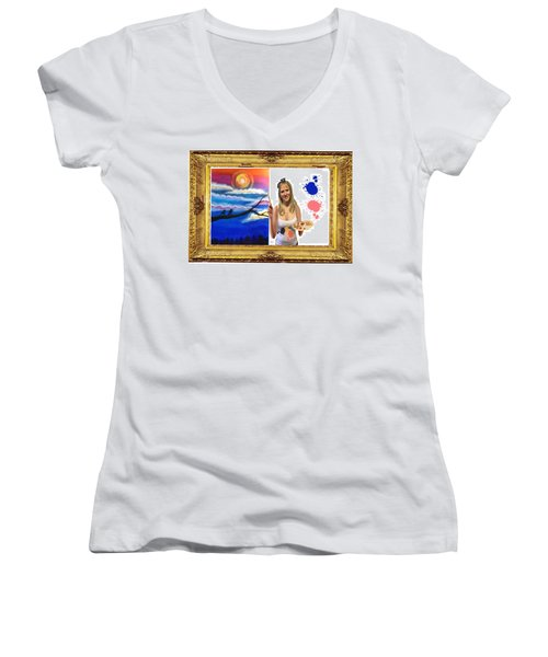 Cover Art For Gallery Women's V-Neck T-Shirt (Junior Cut) by Diana Riukas