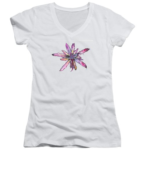 Cryptanthus Tropical Heat Wave Women's V-Neck (Athletic Fit)