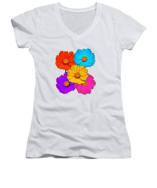 Daisy Pop Women's V-Neck T-Shirt