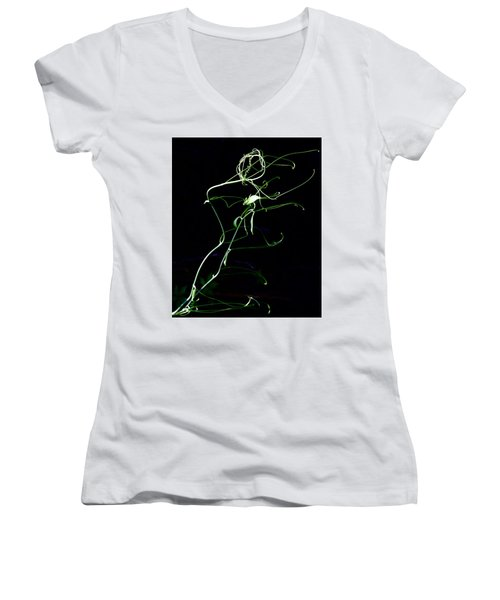 Dancing Vine Women's V-Neck (Athletic Fit)