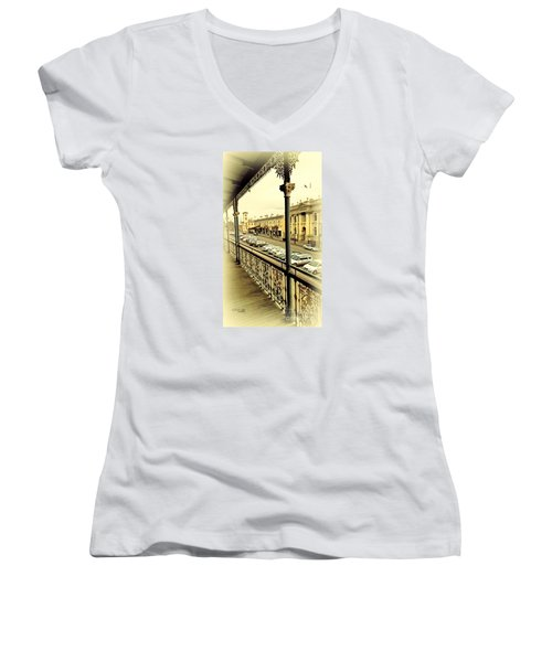 Downtown Daylesford II Women's V-Neck T-Shirt