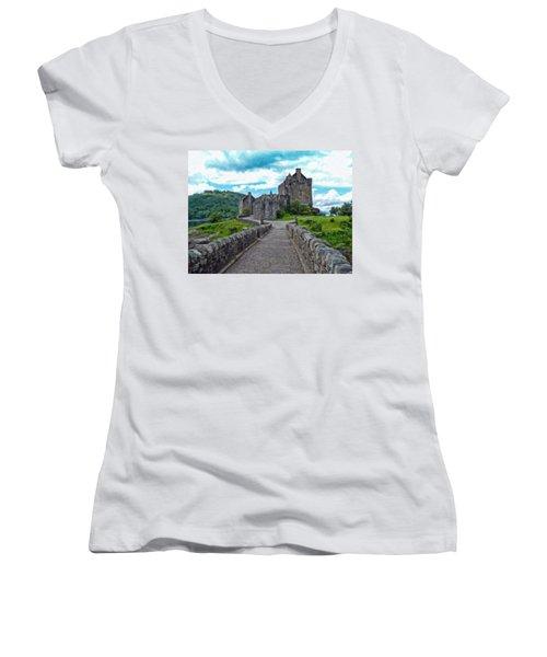 Eilean Donan Castle - -sct665549 Women's V-Neck