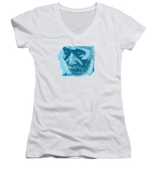 Eyes Women's V-Neck T-Shirt (Junior Cut) by Antonio Romero