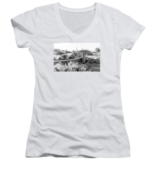 Fence Post. Women's V-Neck