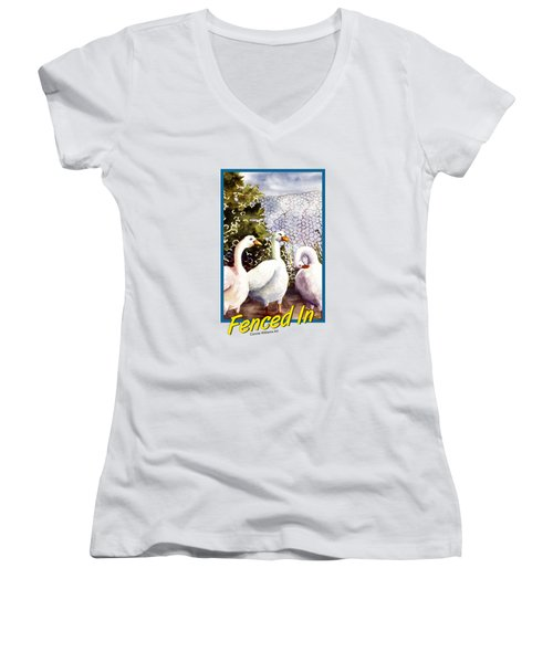 Fenced In Women's V-Neck