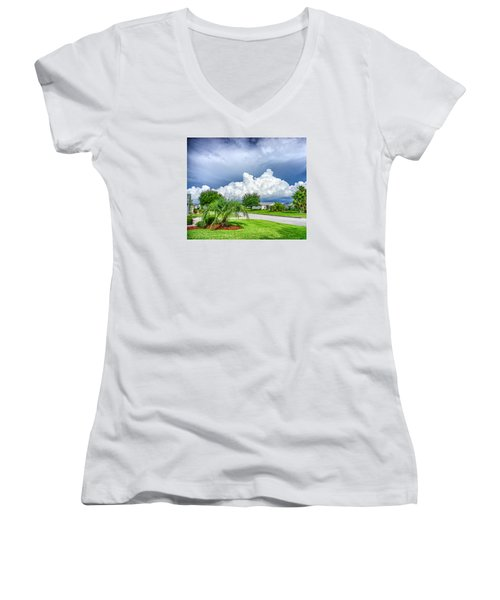 Florida Sky Women's V-Neck T-Shirt