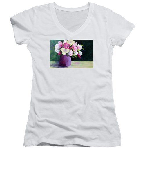 Floral Delight Women's V-Neck T-Shirt