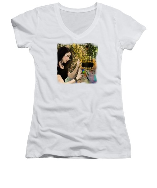 Fly Away Home Women's V-Neck T-Shirt