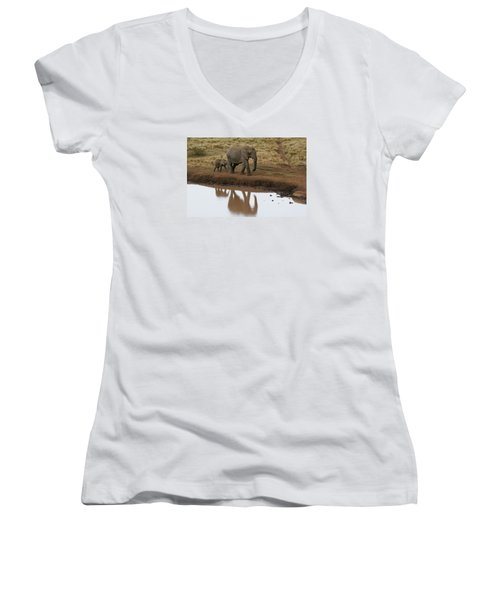 Women's V-Neck T-Shirt (Junior Cut) featuring the photograph Follow Me by Gary Hall