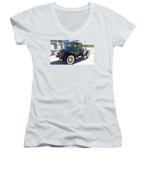 Ford Model A Women's V-Neck