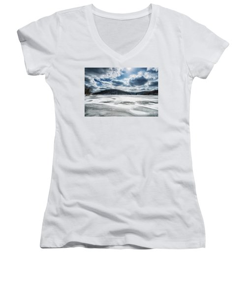Frozen Lake Women's V-Neck T-Shirt
