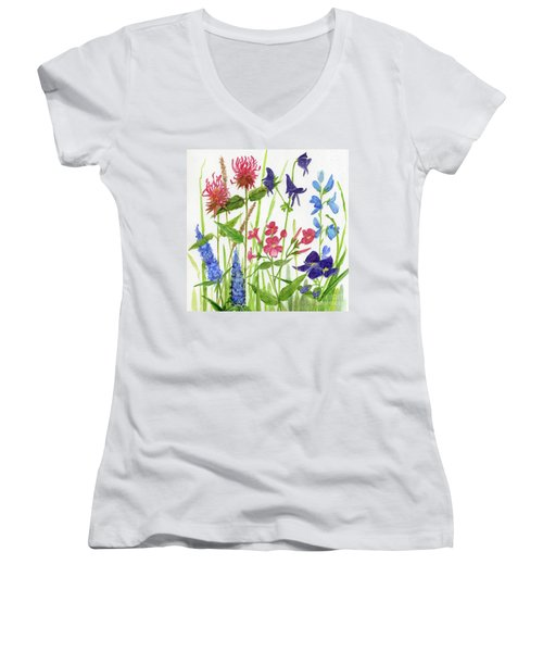 Garden Flowers Women's V-Neck