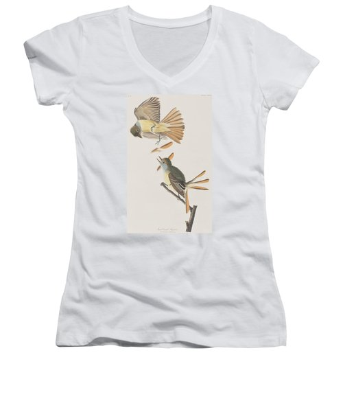 Great Crested Flycatcher Women's V-Neck (Athletic Fit)