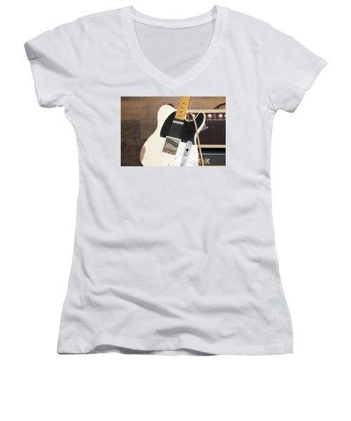 Guitar Women's V-Neck
