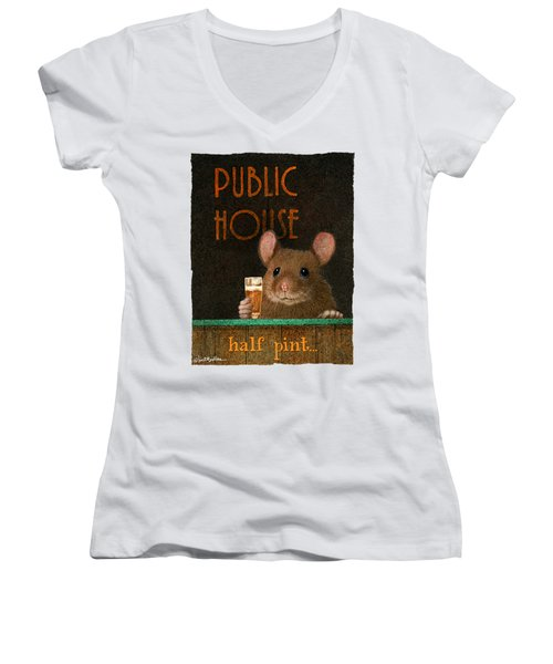 Half Pint... Women's V-Neck (Athletic Fit)