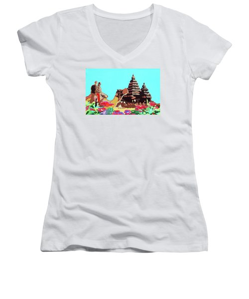 Happy Journey Women's V-Neck T-Shirt