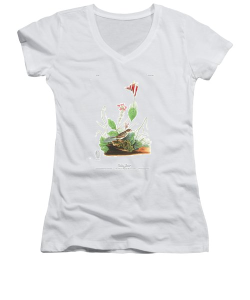 Henslow's Bunting  Women's V-Neck T-Shirt