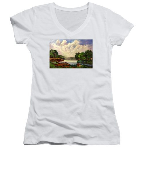 His Divine Creation Women's V-Neck T-Shirt (Junior Cut)