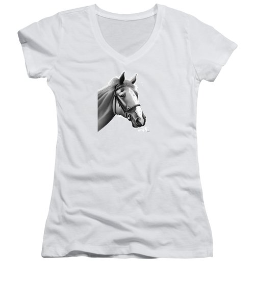 Horse Women's V-Neck (Athletic Fit)