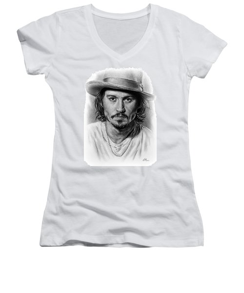 Johnny Depp Women's V-Neck T-Shirt