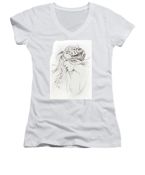 Kiss Of Wind Women's V-Neck T-Shirt
