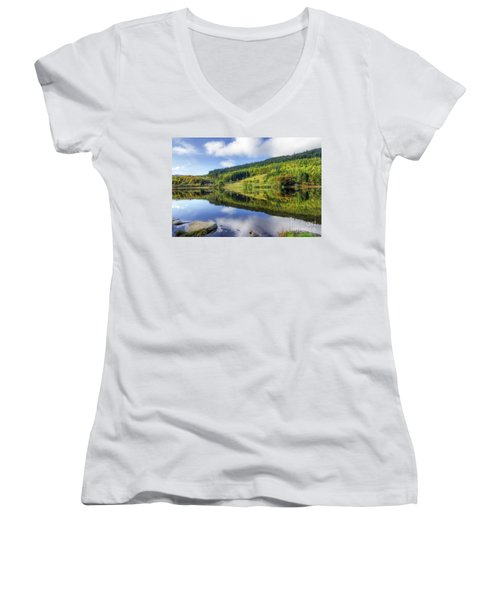 Lake Geirionydd Women's V-Neck T-Shirt