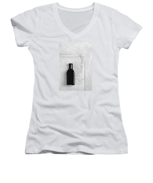 Little Black Bottle  Women's V-Neck