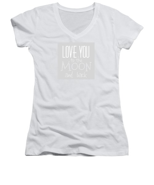 Love You To The Moon And Back Women's V-Neck