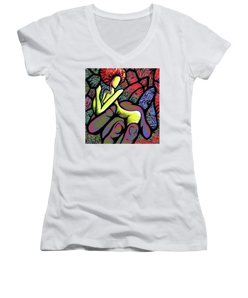 Mercy's Hand Women's V-Neck (Athletic Fit)