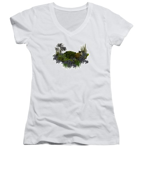 Moss Island Women's V-Neck T-Shirt
