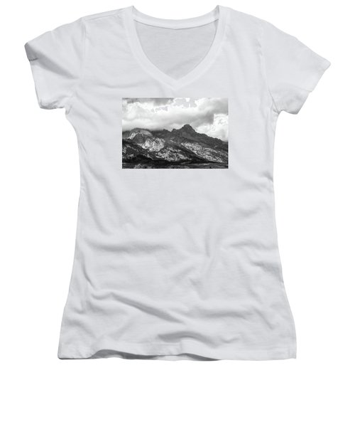 Women's V-Neck T-Shirt featuring the photograph Mountain Shadows by Colleen Coccia