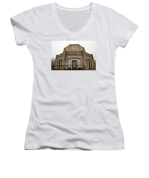 Vista House, Columbia River Gorge, Or. Women's V-Neck (Athletic Fit)