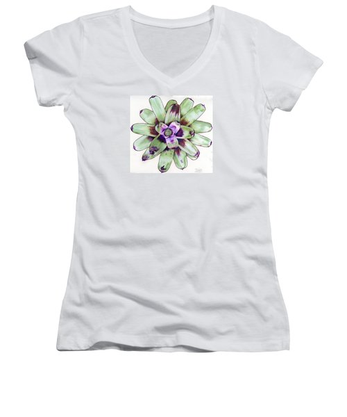 Neoregelia 'painted Delight' Women's V-Neck (Athletic Fit)