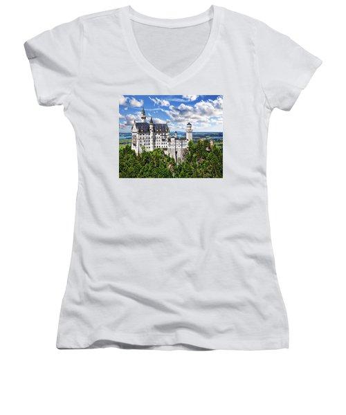 Neuschwanstein Castle Women's V-Neck